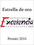 Estrella de oro 2016 otorgado por el Instituto para la Excelencia Profesional